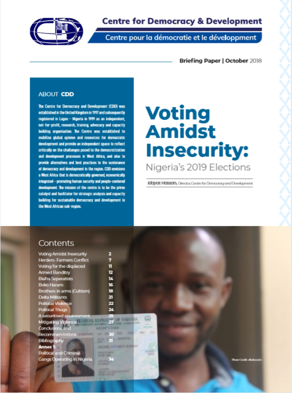 Voting Amidst Insecurity