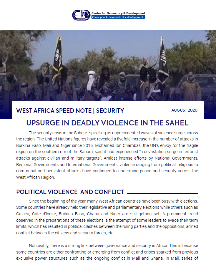 West Africa Speed Notes on Security