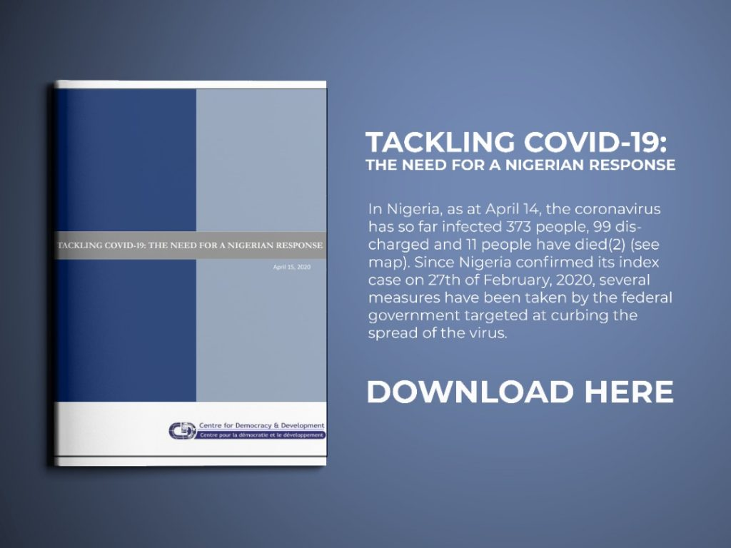 Tackling COVID-19: The Need for a Nigerian Response