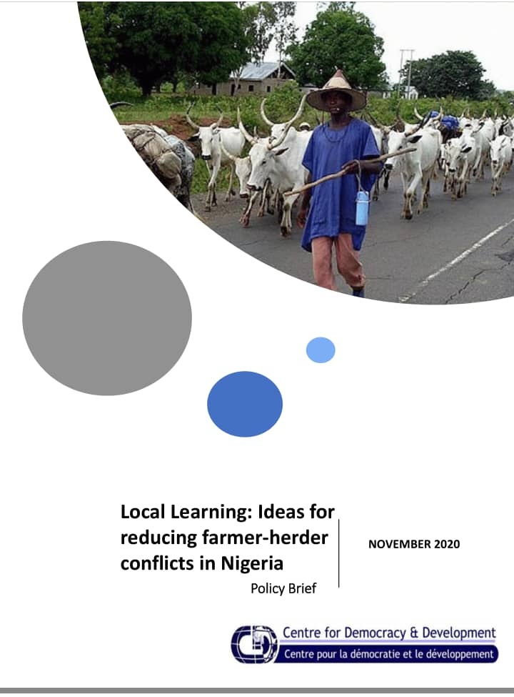 Local Learning: Ideas For Reducing Farmer-Herder Conflicts In Nigeria